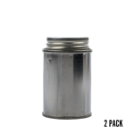 4 oz. Metal Round Screwtop (2 pk)